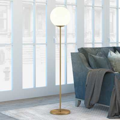 Hudson&Canal Theia 62.63 in Brass Globe & Stem Floor Lamp - Home Depot