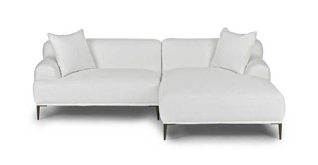 Abisko Quartz White Right Sectional - Article