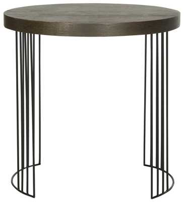 Kelly Mid Century Scandinavian Wood Side Table - Dark Brown/Black - Arlo Home - Arlo Home