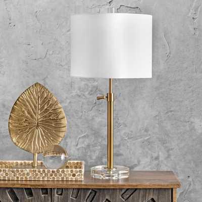 "Gardiner 26"" Crystal Table Lamp - Loom 23"