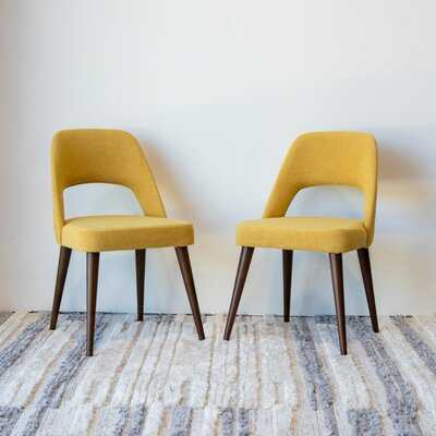 Mid Century Modern Ariel Blue Dining Chair Set Of 2 - Wayfair