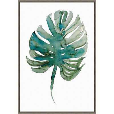 Monstera (Leaf) by Marina Billinghurst - Floater Frame Painting Print on Canvas - Wayfair
