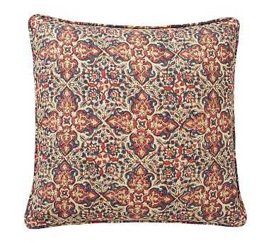"""Lynd Print Pillow Cover, Warm Multi, 20"""" - Pottery Barn"""