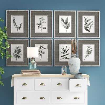 Leaves by Grace Feyock - 8 Piece Picture Frame Graphic Art Print Set - Birch Lane