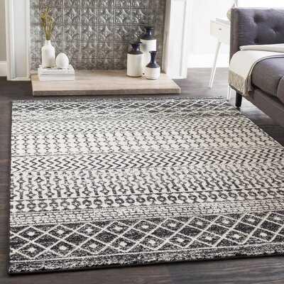 Wawona Oriental Black/White Indoor / Outdoor Area Rug - Wayfair