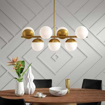 Yearby 7 - Light Sputnik Modern Linear Chandelier - Wayfair