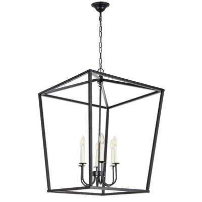 Tanguay 6 - Light Lantern Square / Rectangle Pendant - Wayfair