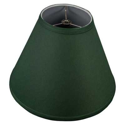 FenchelShades.com Fenchel Shades 12 in. Width x 8.25 in. Height Hunter Green/Nickel Finish Empire Lamp Shade - Home Depot