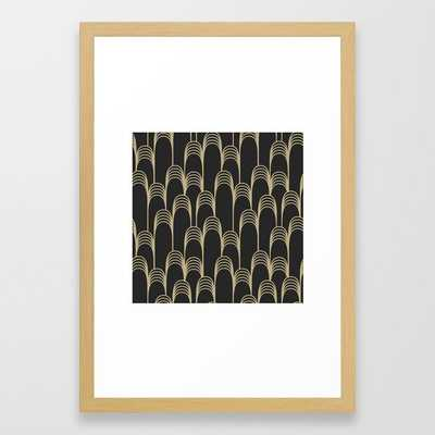 Prelude In Black And Gold Framed Art Print by Becky Bailey - Conservation Natural - SMALL-15x21 - Society6