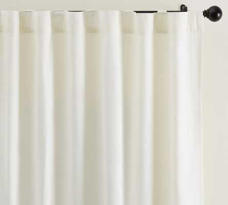 """Broadway Rod Pocket Blackout Curtain, Set of 2, 50 x 96"""", Ivory - Pottery Barn"""