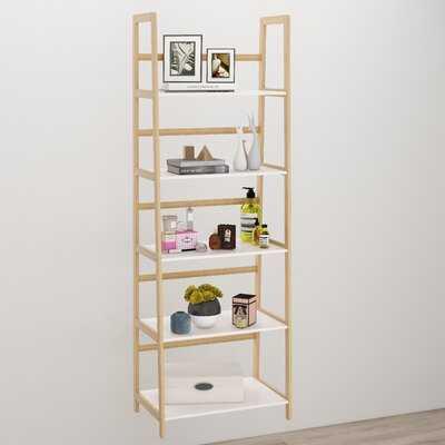5-Tires Book Shelf Made Of Bamboo Wood,White - Wayfair