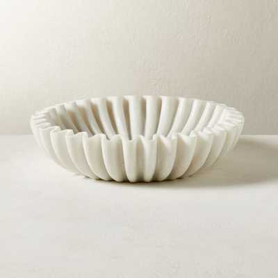 Reve Marble Fluted Bowl RESTOCK IN LATE APRIL,2021 - CB2