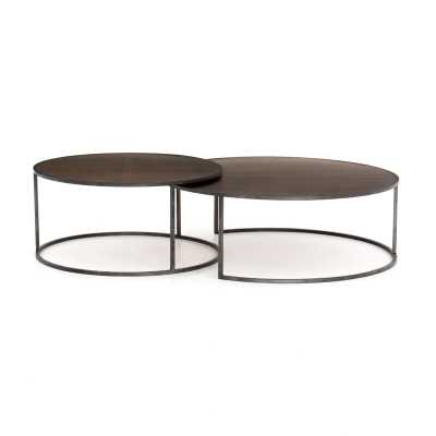 Four Hands Catalina Nesting Coffee Table Table Top Color: Antique Brass Clad - Perigold