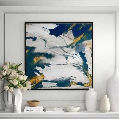 JBass Grand Gallery Collection 'Lapis II' Framed Print on Canvas - Perigold