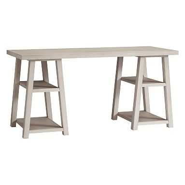 Customize-It Simple Trestle Desk, Brushed Fog, In-Home - Pottery Barn Teen