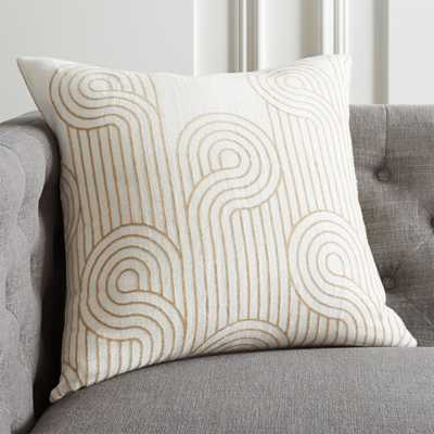 "20"" Swirls Pillow with Down-Alternative Insert - CB2"