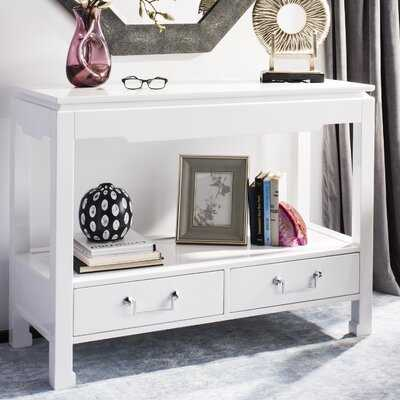 Mcclure 2 Drawer Lacquer Console Table - Wayfair