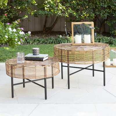 Mandria Wicker 2 Piece Side Table Set - Wayfair