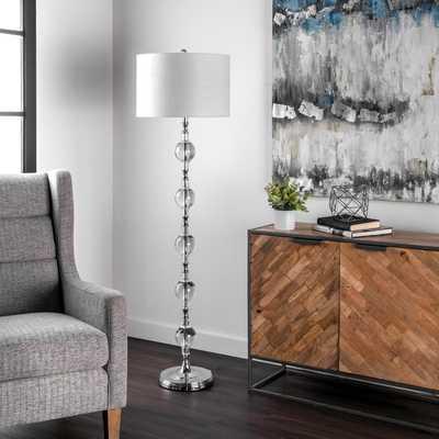 "Merced 62"" Crystal Floor Lamp - Loom 23"