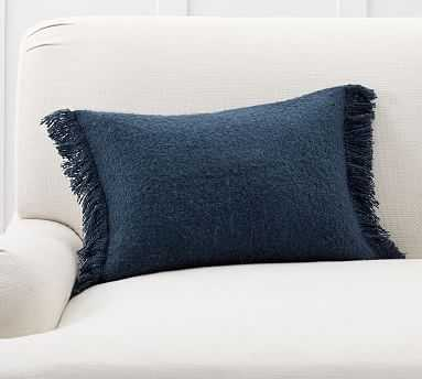 "Boucle Lumbar Pillow Cover, 14 x 20"", Midnight - Pottery Barn"