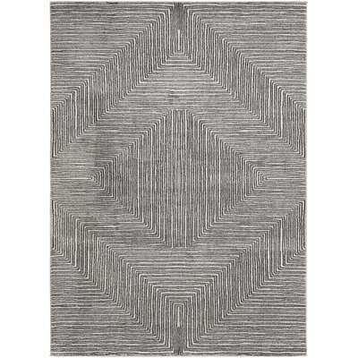 Jerrell Power Loom Gray Rug - Wayfair