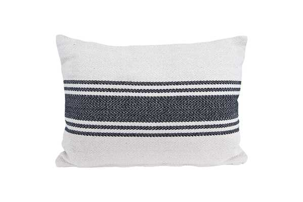 "Magnolia Pillow, 14"" x20"", Grey - Cove Goods"
