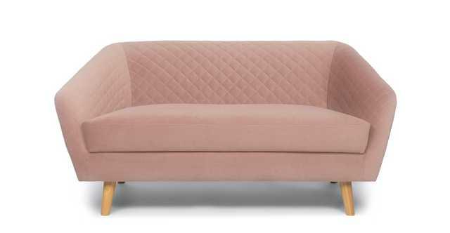Dalu Hibiscus Pink Loveseat - Article