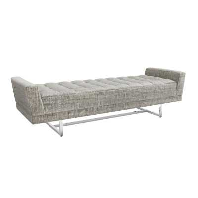 Interlude Luca King Upholstered Bench Color: Feather - Perigold