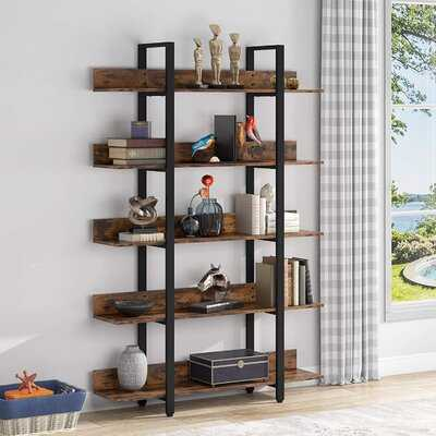 "Thorbern 71"" H x 41"" W Steel Etagere Bookcase - Wayfair"