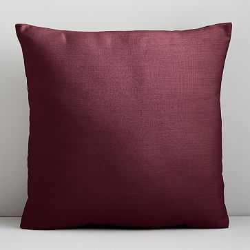 """Sunbrella Indoor/Outdoor Cast Pillow, 20""""x20"""", Currant - West Elm"""