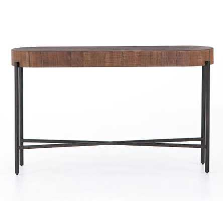 Fargo Wood Console Table, Natural Brown - Pottery Barn