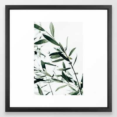 Olive Branch Framed Art Print by Mareike BaPhmer - Vector Black - MEDIUM (Gallery)-22x22 - Society6