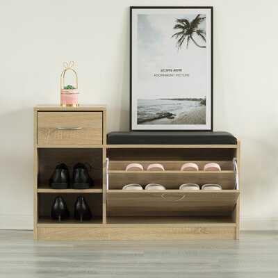 Gerred Wood Drawers/Cabinet/Shoe Storage Bench - Wayfair