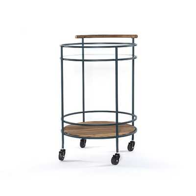 Dempsey Bar Cart, Petrol Blue - West Elm