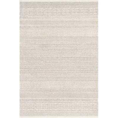 Shiloh Handmade Tufted Wool Gray/Cream Rug - Wayfair