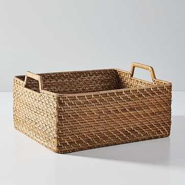 Modern Weave, Harvest Basket, Natural, Set of 2 - West Elm