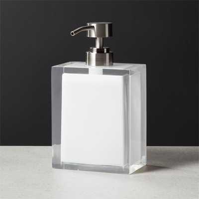Millenium White Soap Pump - CB2