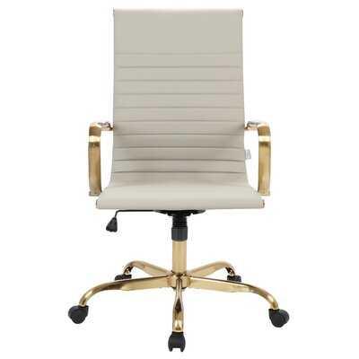 Orren Ellis Sorrells High-Back Leatherette Office Chair With Gold Frame - Wayfair