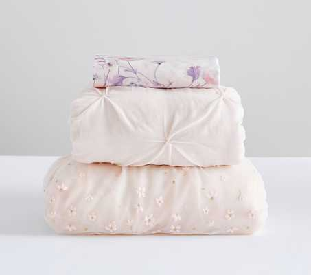 Monique Lhullier Floral Quilt Set with Monique Lhullier Floral Fitted Crib Sheet - Pottery Barn Kids