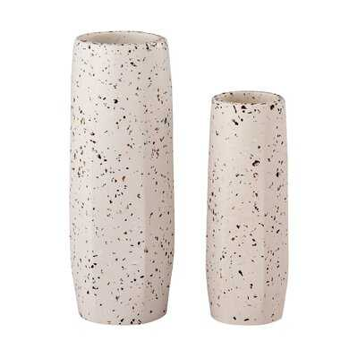 Mitul White Concrete Table Vase - AllModern