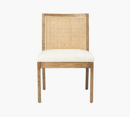 Lisbon Cane Dining Side Chair, Toasted Nettlewood - Pottery Barn