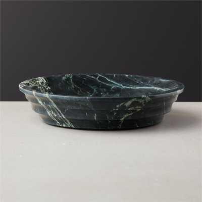 Aurora Green Marble Bowl - CB2