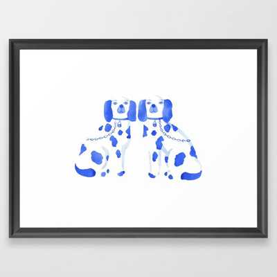 Staffordshire Dogs Framed Art Print by The Aestate - Scoop Black - MEDIUM (Gallery)-20x26 - Society6