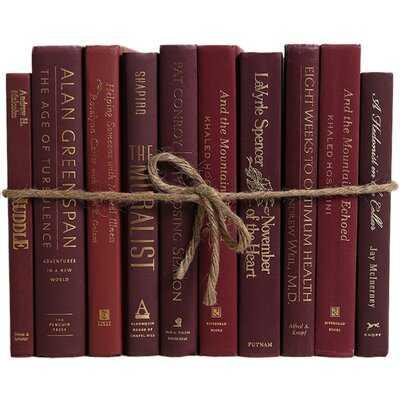 Authentic Decorative Books - By Color Modern Bordeaux ColorPak (1 Linear Foot, 10-12 Books) - Birch Lane