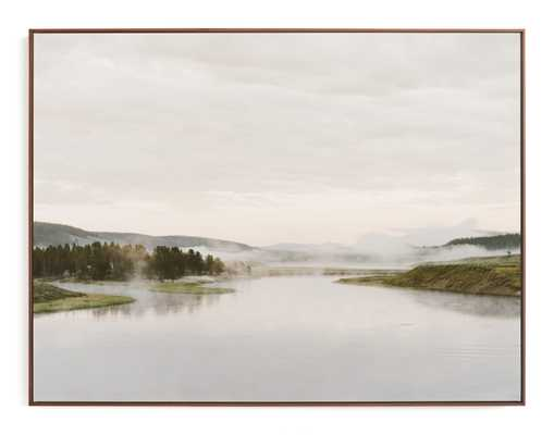 Misty Lake Art Print - Minted