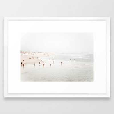 At The Beach Two Framed Art Print by Ingrid Beddoes Photography - Vector White - MEDIUM (Gallery)-20x26 - Society6