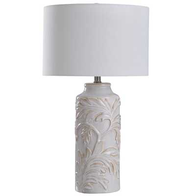 StyleCraft Mirfield 25 in. Mirfield Beige Table Lamp - Home Depot