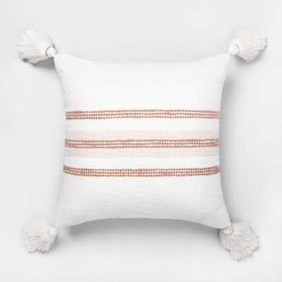 Rose Gold Slub Stripe Throw Pillow - Hearth & Hand with Magnolia, Adult Unisex - Target