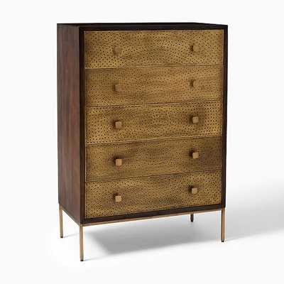 Decker 5 Drawer Dresser, Brass - West Elm