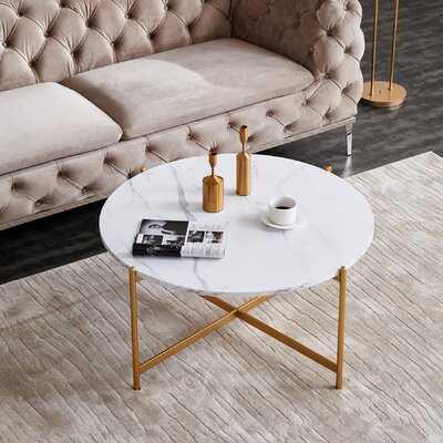 Hardrick Cross Legs Coffee Table - Wayfair